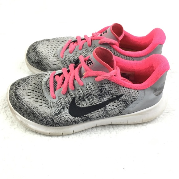 reputable site 7ce05 65af7 Nike Free Run 2017 Wolf Grey   Pink Running Shoes.  M 5c36b6927386bcdcbfbd1bcb